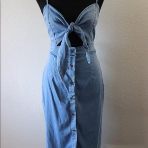 Brand New Jersey Denim Midi Dress!